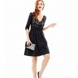 ELIZA J Lace & Faille Dress